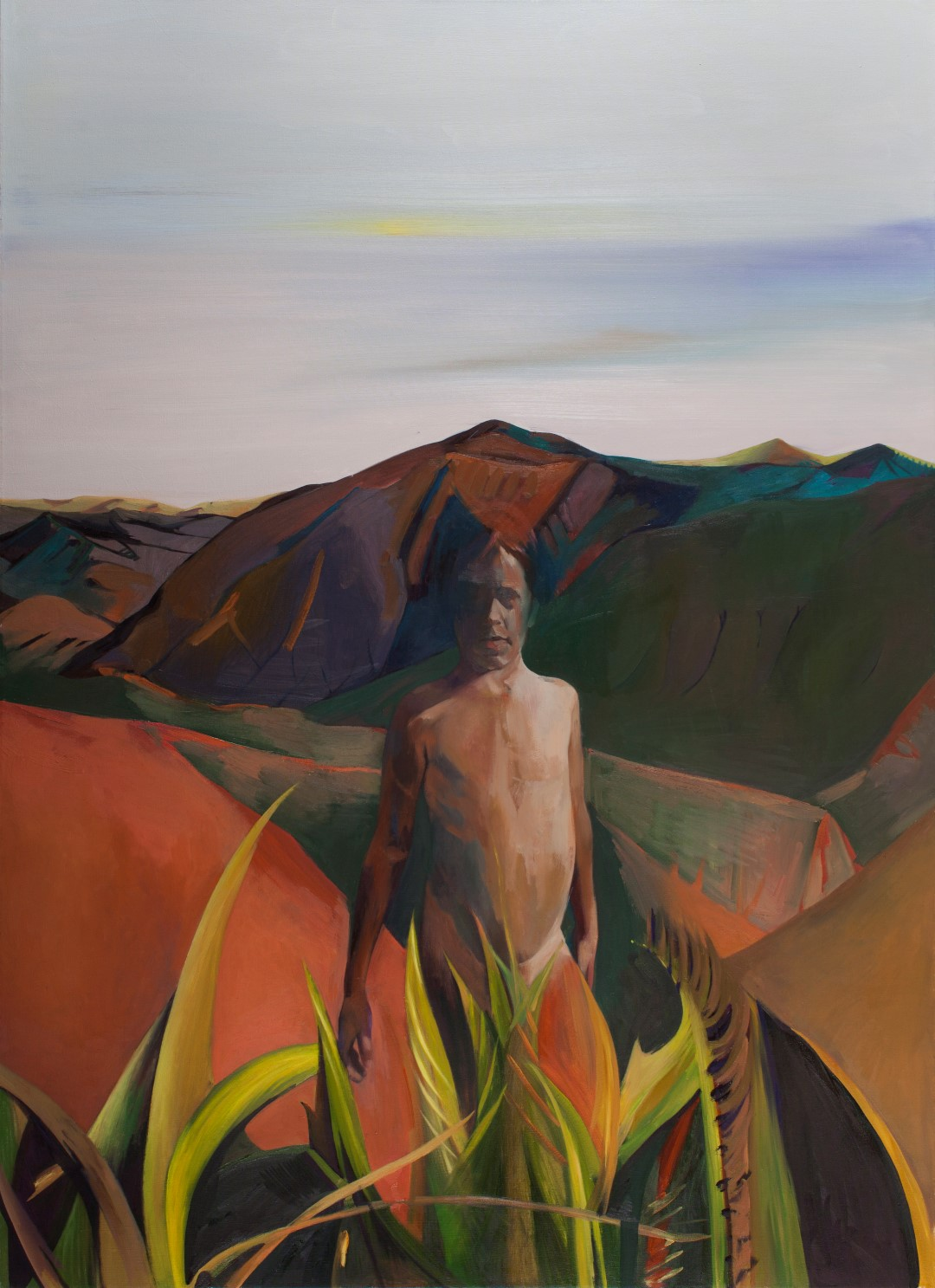 Lanscape in Body Form, 2015, Oil on canvas, 160x130 cm