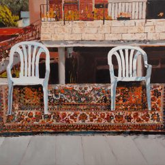 Balcony #2, 2011, oil on canvas, 90x120 cm, private collection, USA